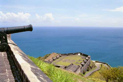Brimstone Hill Fortress view.