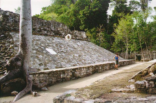Mayan ball court, Tulum ruins, Mexico