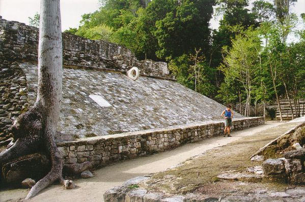 Mayan ball court, Tulum ruins, Mexico