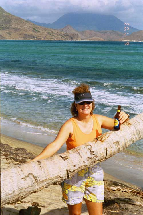 Lynn, St. Kitts BWI. Nevis in background.