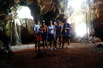 Hurricane cave, Long Island, Bahamas.