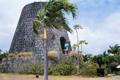 Sugar plantation ruins, Nevis, BWI.