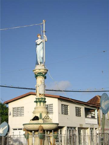 """""""Our Lady of the Drainpipe"""", St. Kitts, BWI."""
