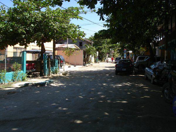 Street scene, West End, Roatan.