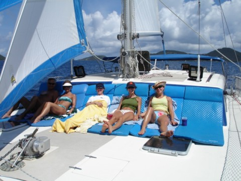 Aboard Kuralu for a day sail n snorkel
