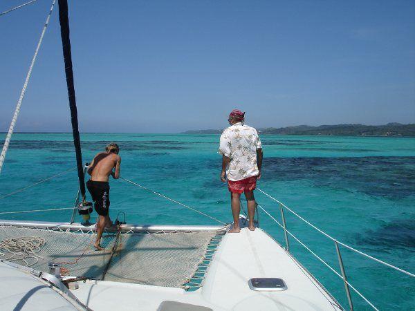 Anchor drill, Roatan, Honduras.
