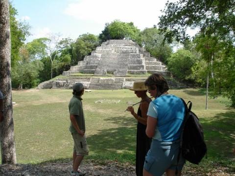 Lamani pyramid view from the shade