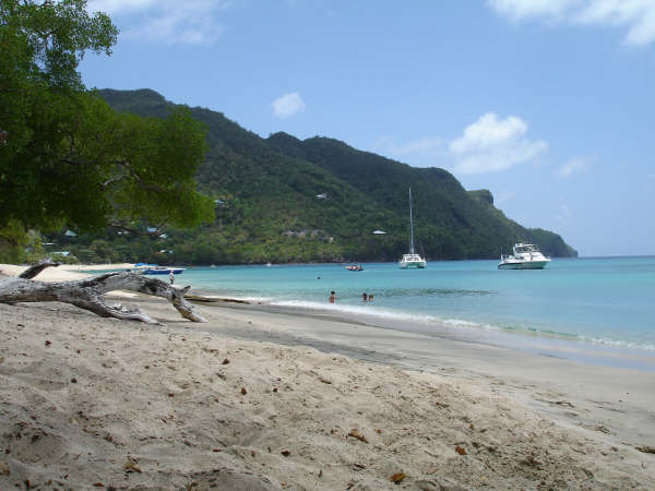Lower Bay looking south. Bequia, St. Vincent and the Grenadines