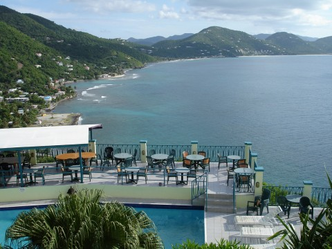 View from Heritage Inn, Tortola of Carrot Bay.