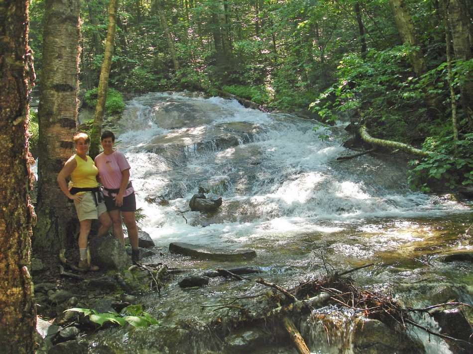 Falling Waters Trail, Franconia Notch are, White Mountains, NH.