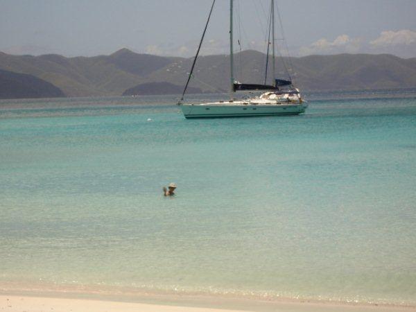 Warm seas, White Bay, Jost Van Dyke island, BVI.