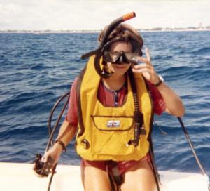 Lynn dives off Palm Beach, FL 1977