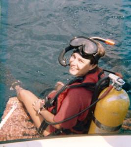Lynn diver off Palm Beach, FL 1977.