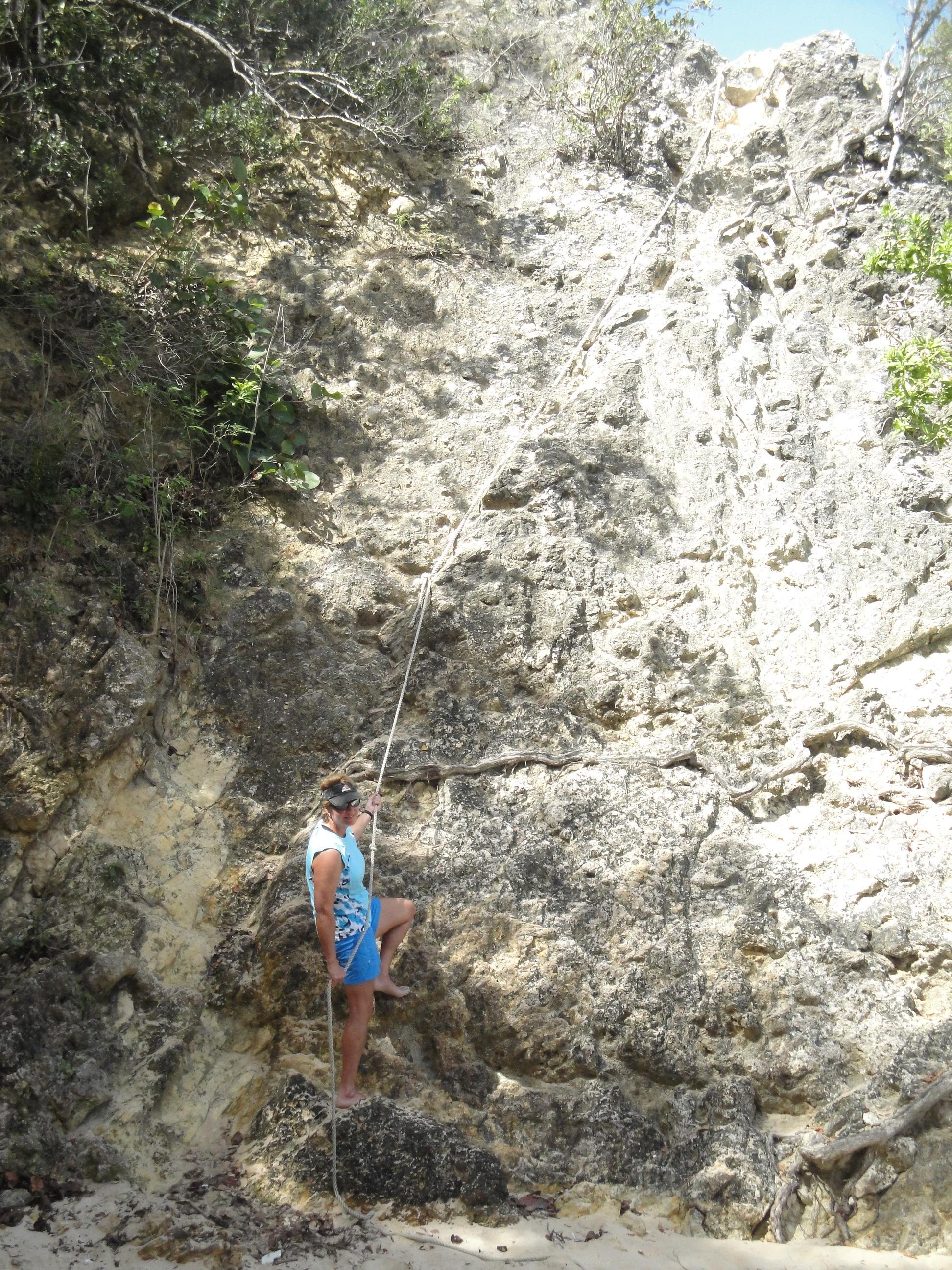 Little Bay down climb, Anguilla.