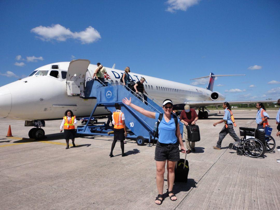 Belize City airport arrival