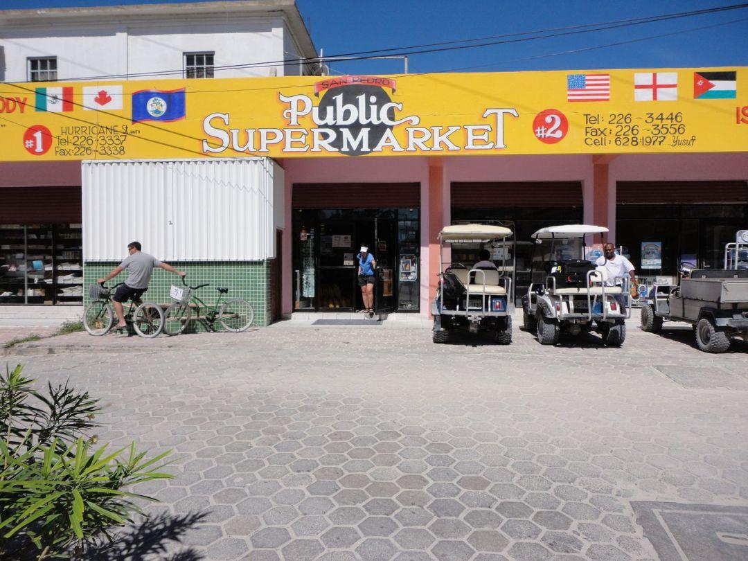 Supermarket visit, San Pedro town, Ambergris Caye, Belize