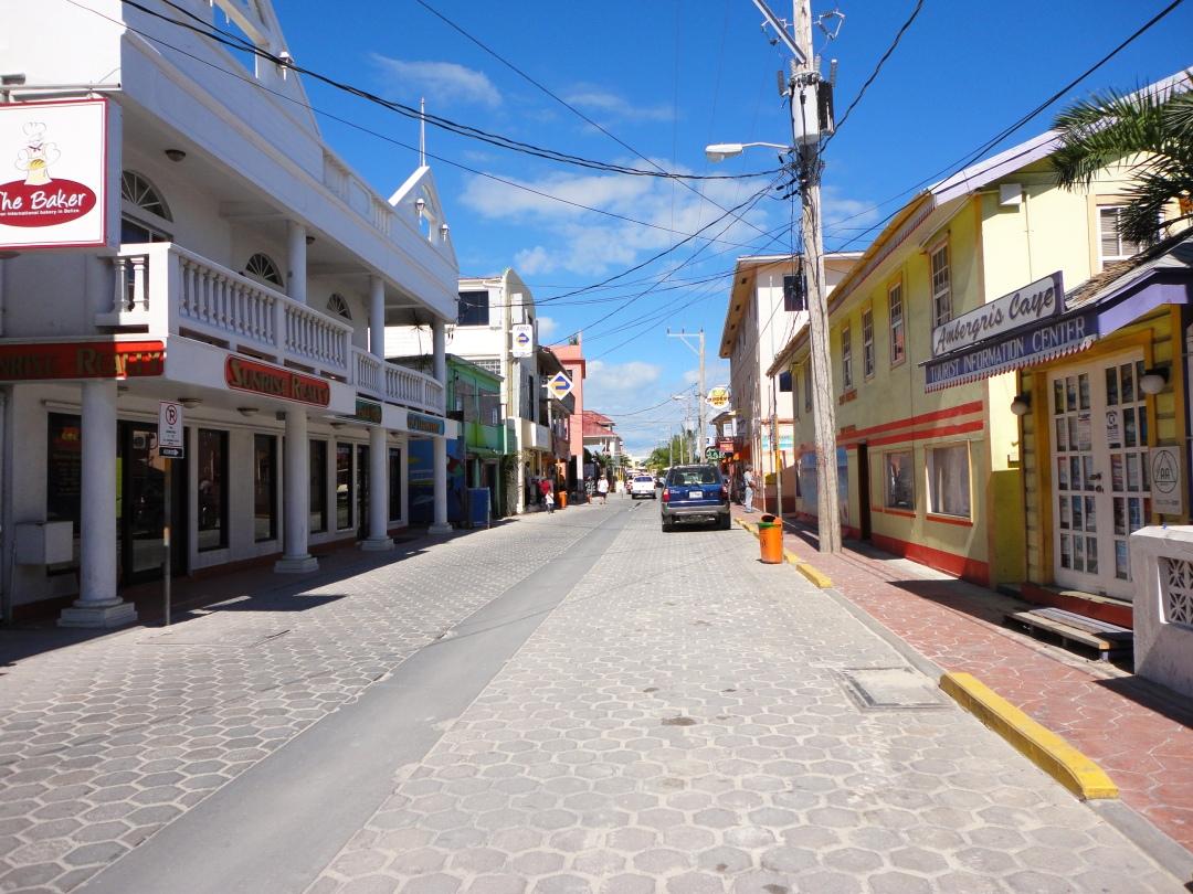 San Pedro main drag, Ambergris Caye, Belize