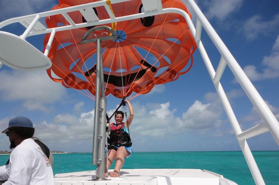 Robin parasailing, Provo, Turks and Caicos