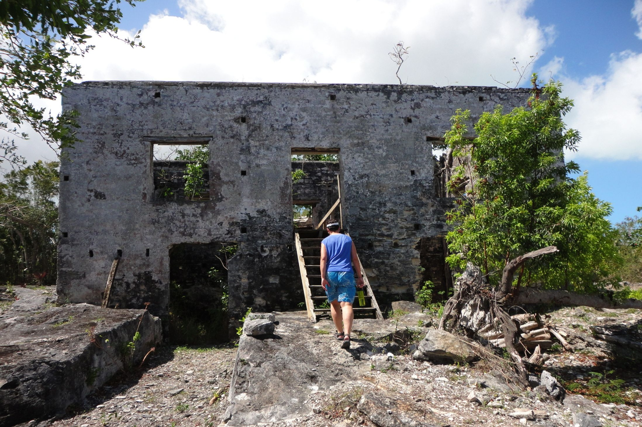 Wade's Plantation main house ruin, North Caicos