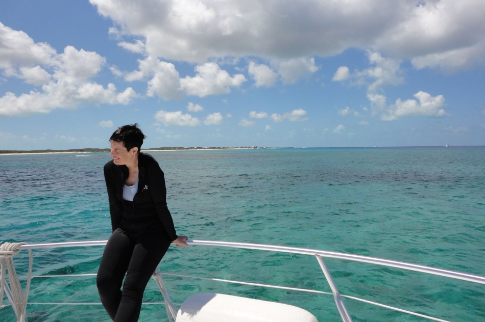 Robin aboard dive boat