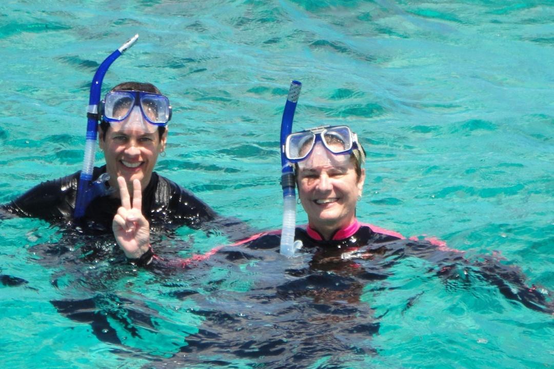 Snorkeling off Provo