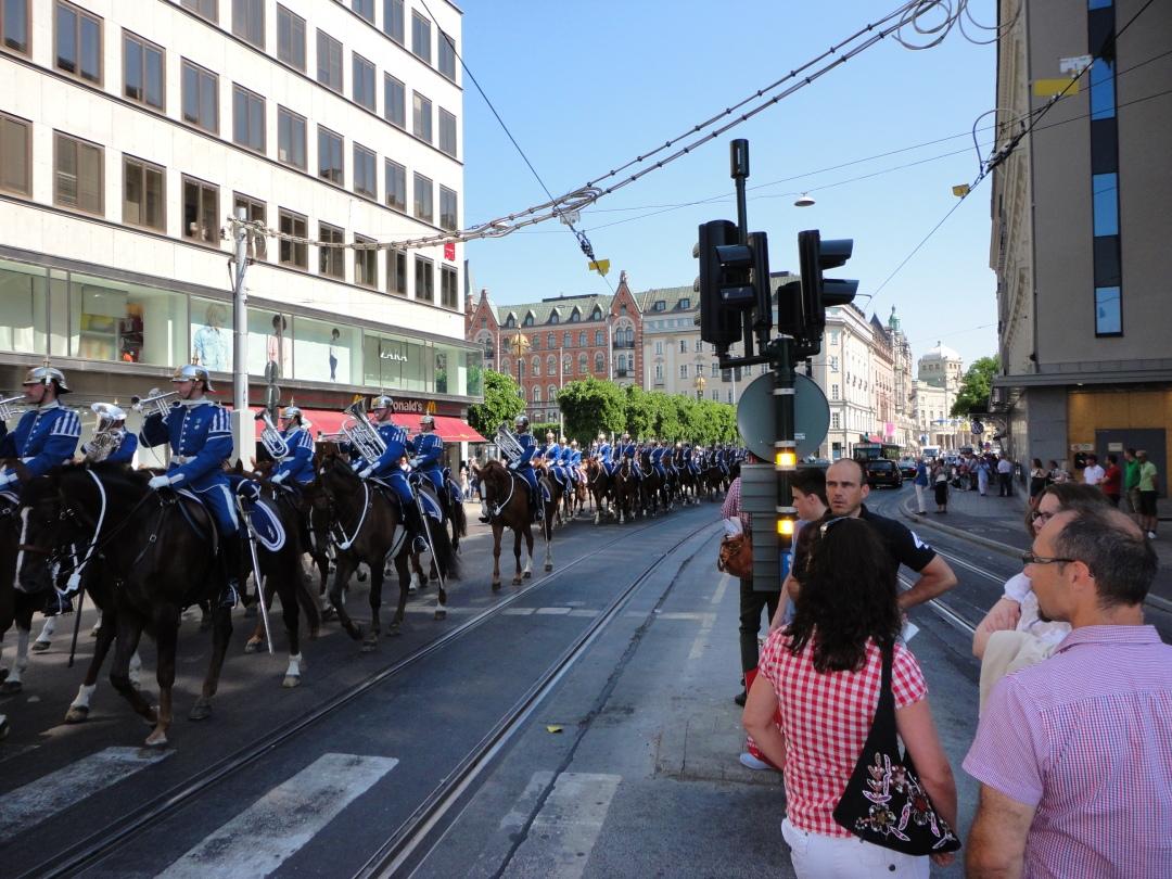 Palace Guard on parade, Stockholm