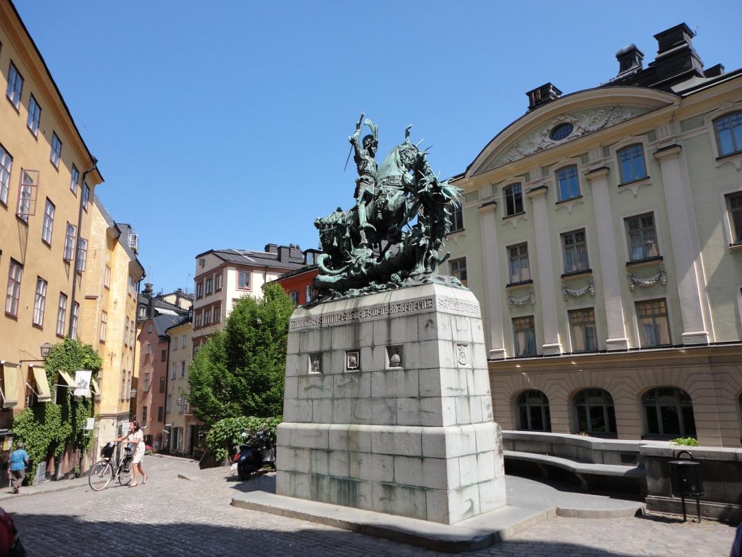 St. George slays the dragon, Gamla Stan, Stockholm.
