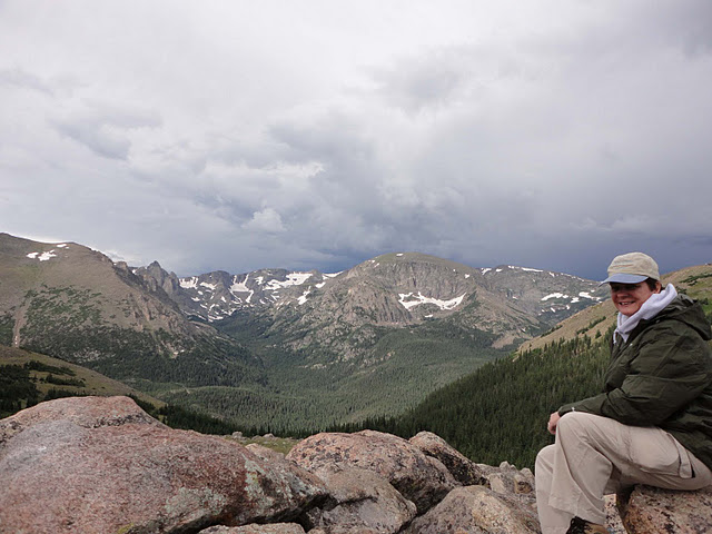 Lynn at 11k feet, Rocky Mountain National Park, CO