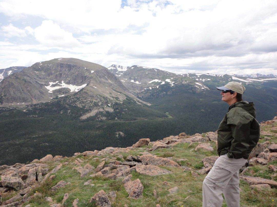 Lynn on the Ute Trail, Rocky Mountain National Park, CO.