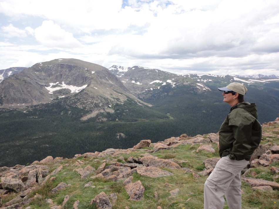 Lynn on the Ute Trail, Rocky Mountain National Park, CO.