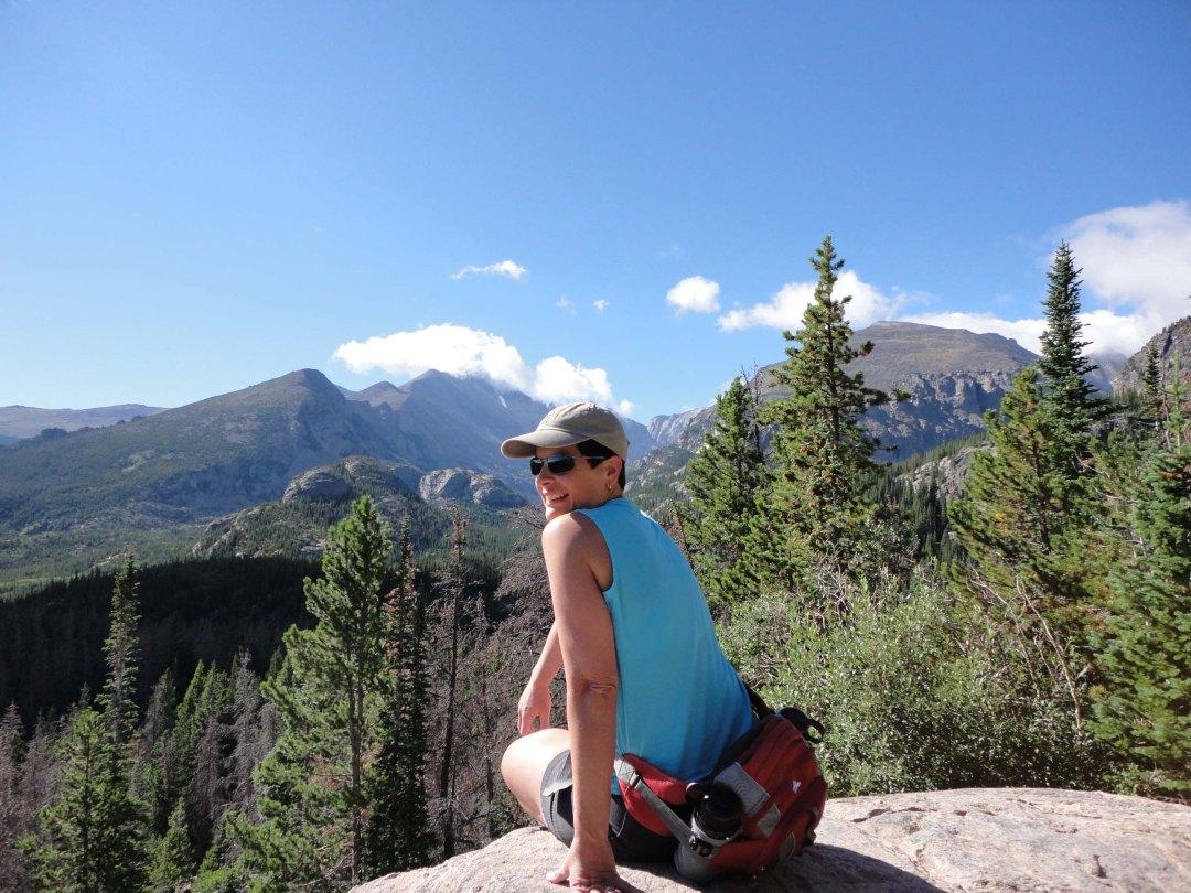 Robin, Emerald Lake hike, Rocky Mountain National Park, CO