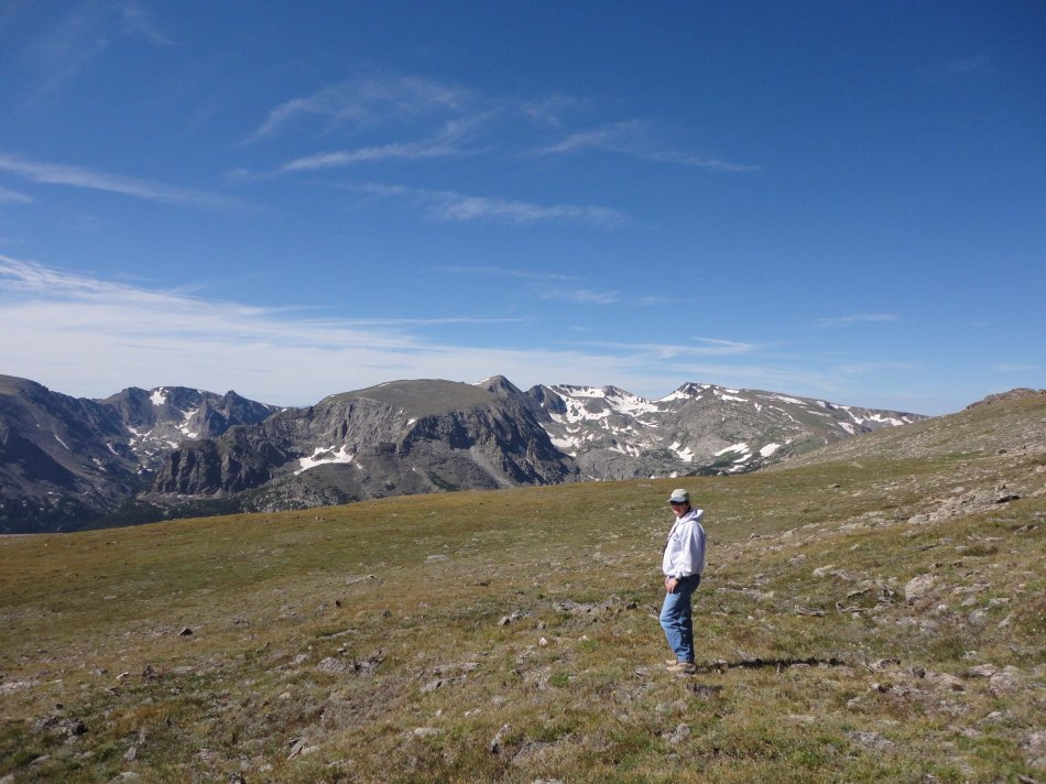 Lynn hikes the tundra at 10k feet, Rocky Mountain National Park, CO