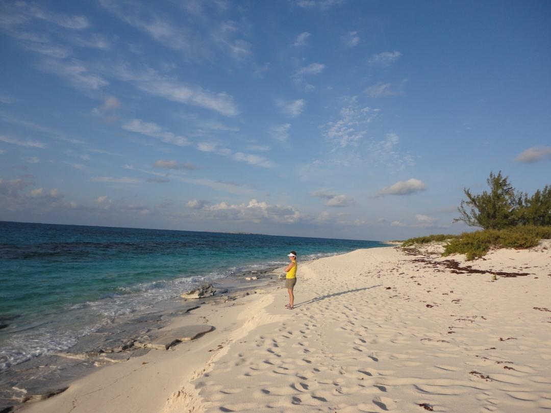Deserted beach, Salt Cay.