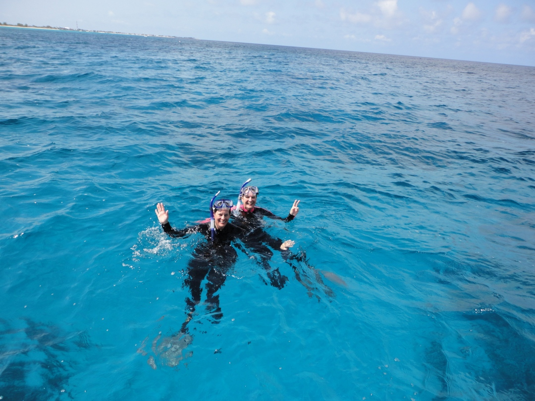 Grand Turk snorkelers.