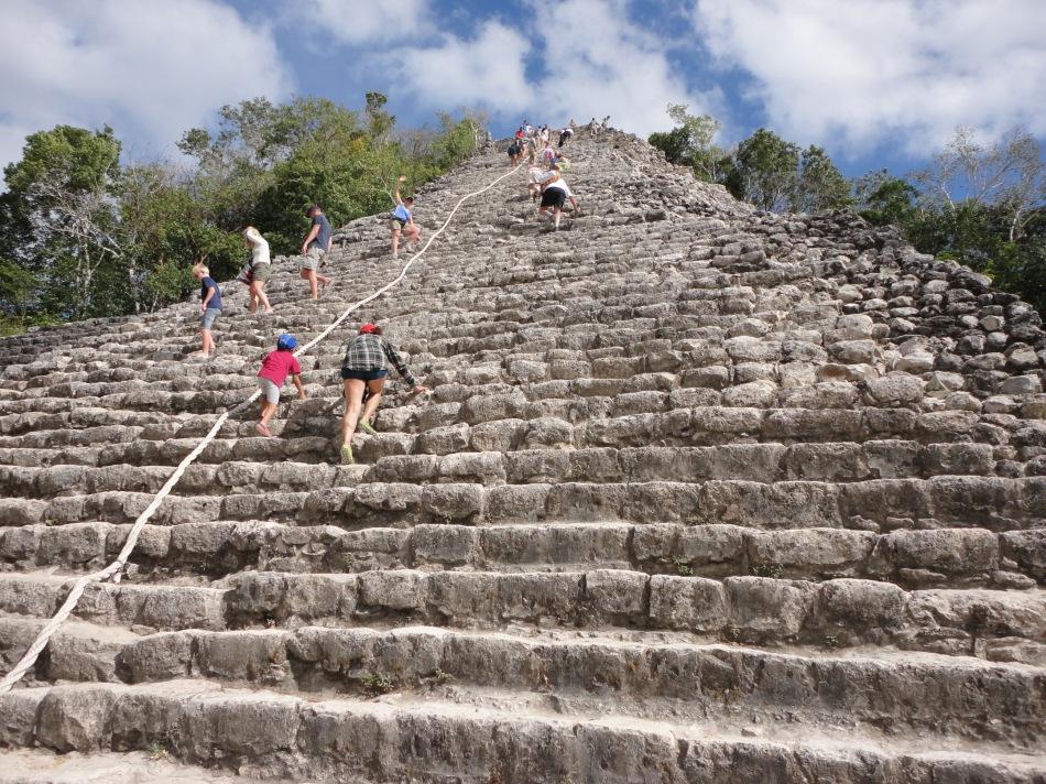 Nohoch Mul pyramid, Tulum, MX