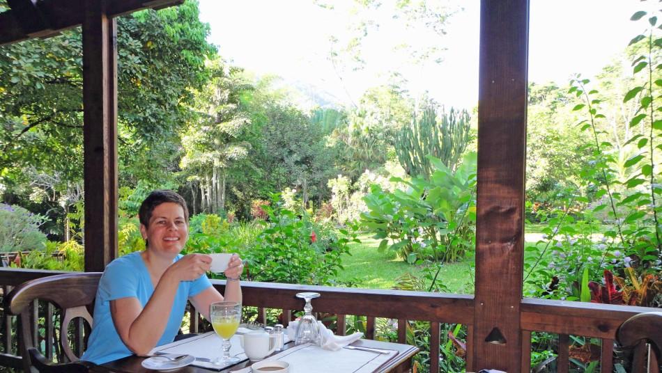 Pico Bonito lodge breakfast.