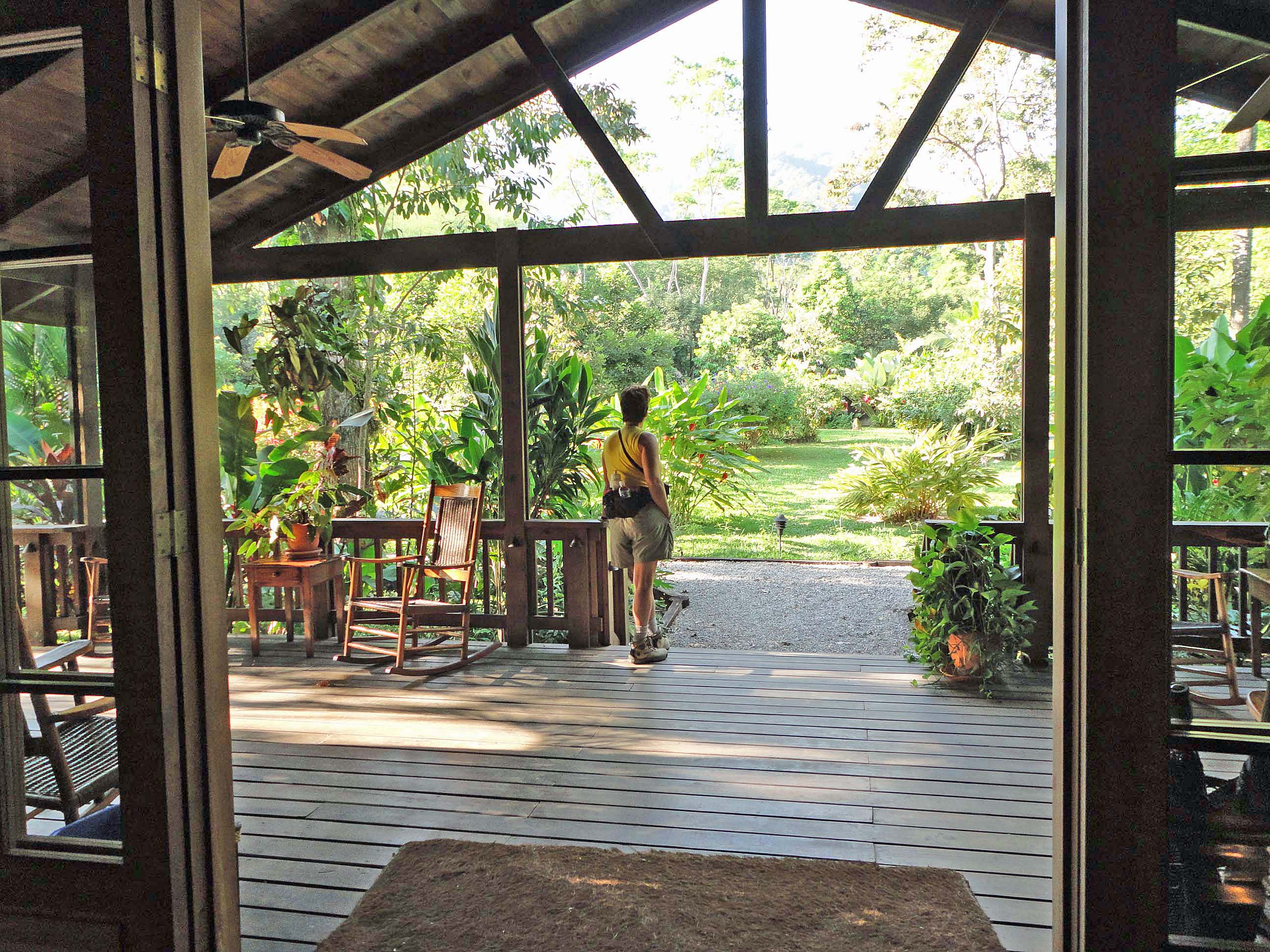 View from Pico Bonito Lodge reception, Honduras.