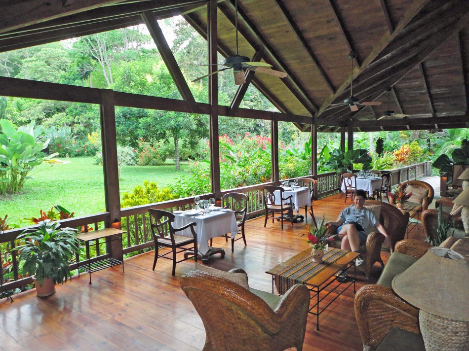 Pico Bonito Lodge dining area, Honduras.