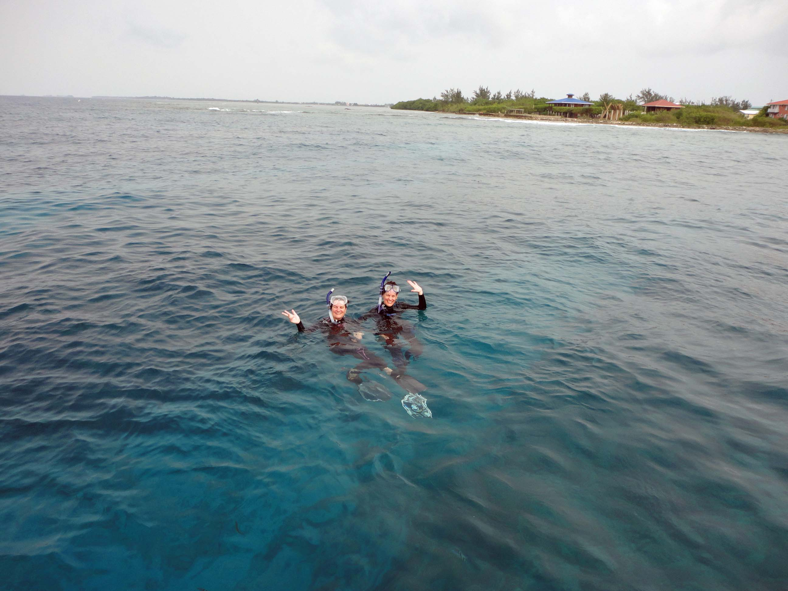 Snorkelers, Utila, Bay Islands, Honduras