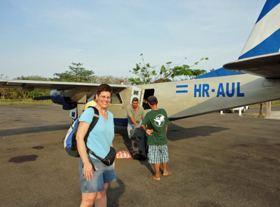 Plane to Utila, Honduras