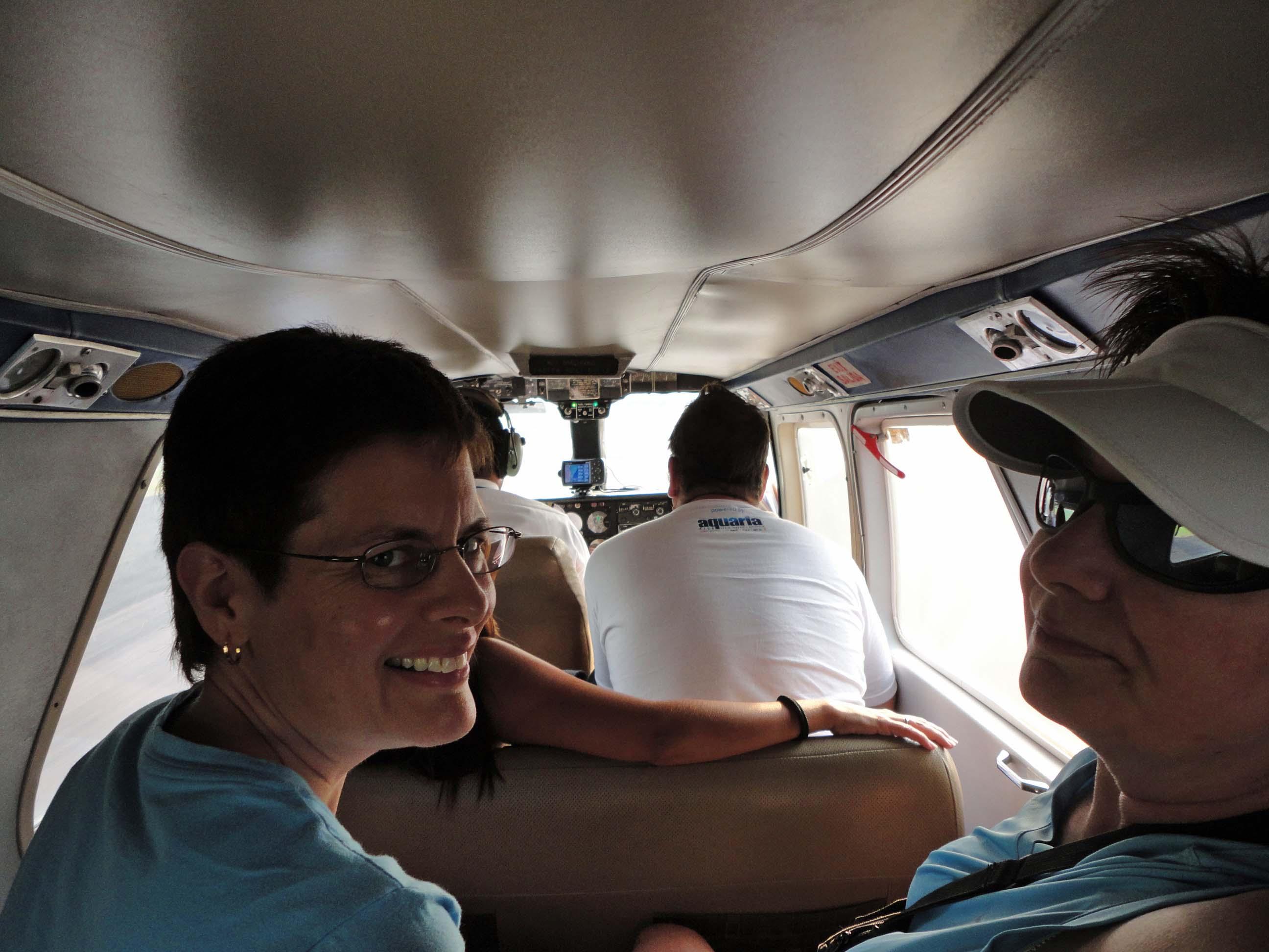 Plane to Utila interior