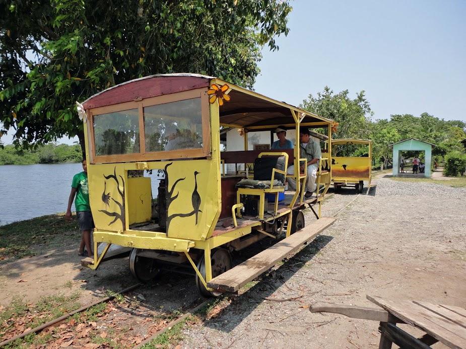 Old banana republic rail car, transport out to Cuero y Salado refuge.