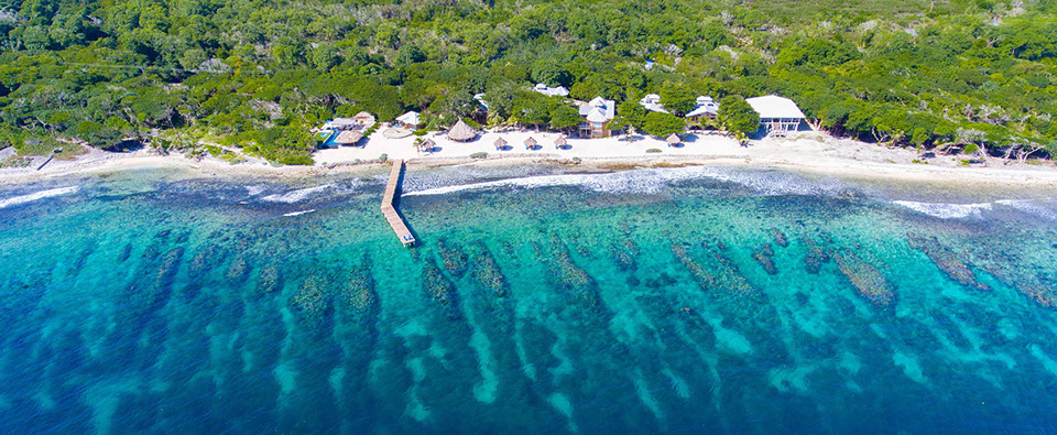 Utopia aerial, Bay Islands, Honduras