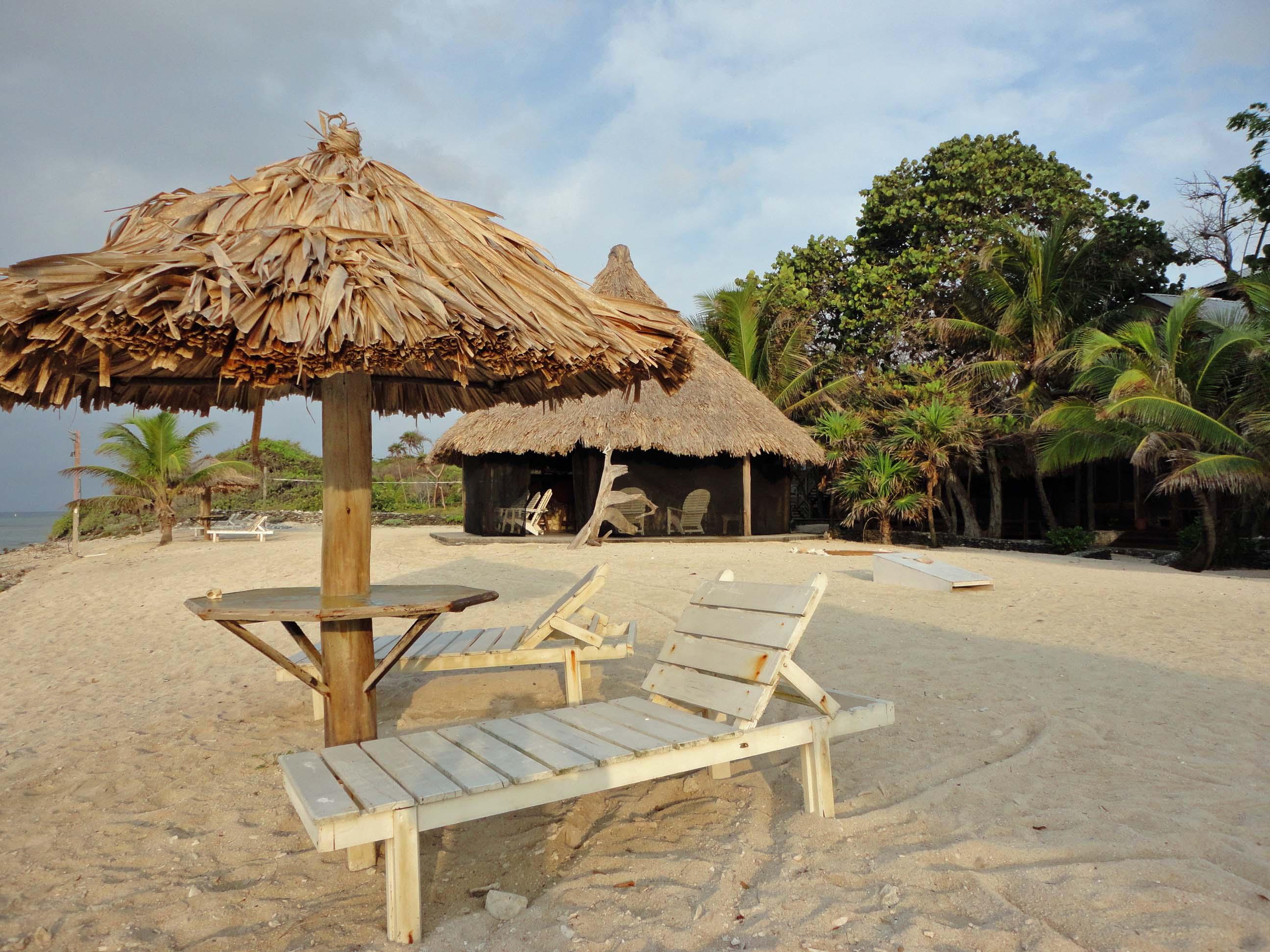 Utopia beach scene, Utila, Bay Islands, Honduras