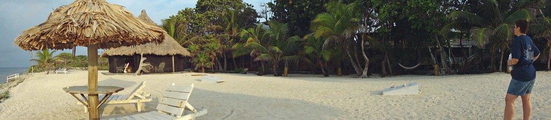 Utopia beach panorama, Utila, Honduras
