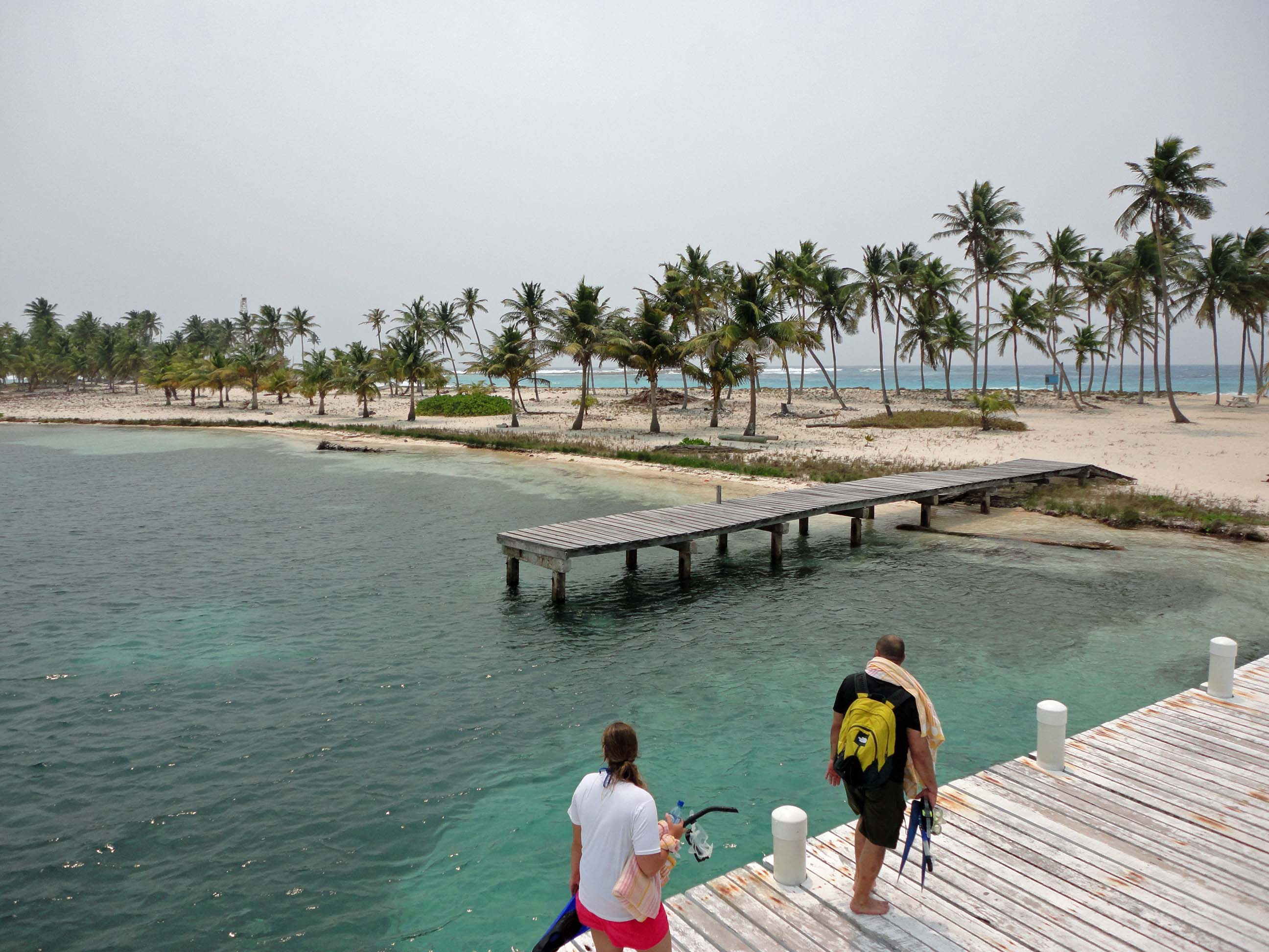 Half Moon Caye dock and island view