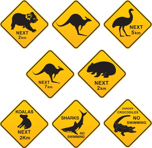 Oz road signs