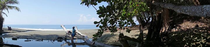 Beach lagoon scene, Osa peninsula,, Costa Rica