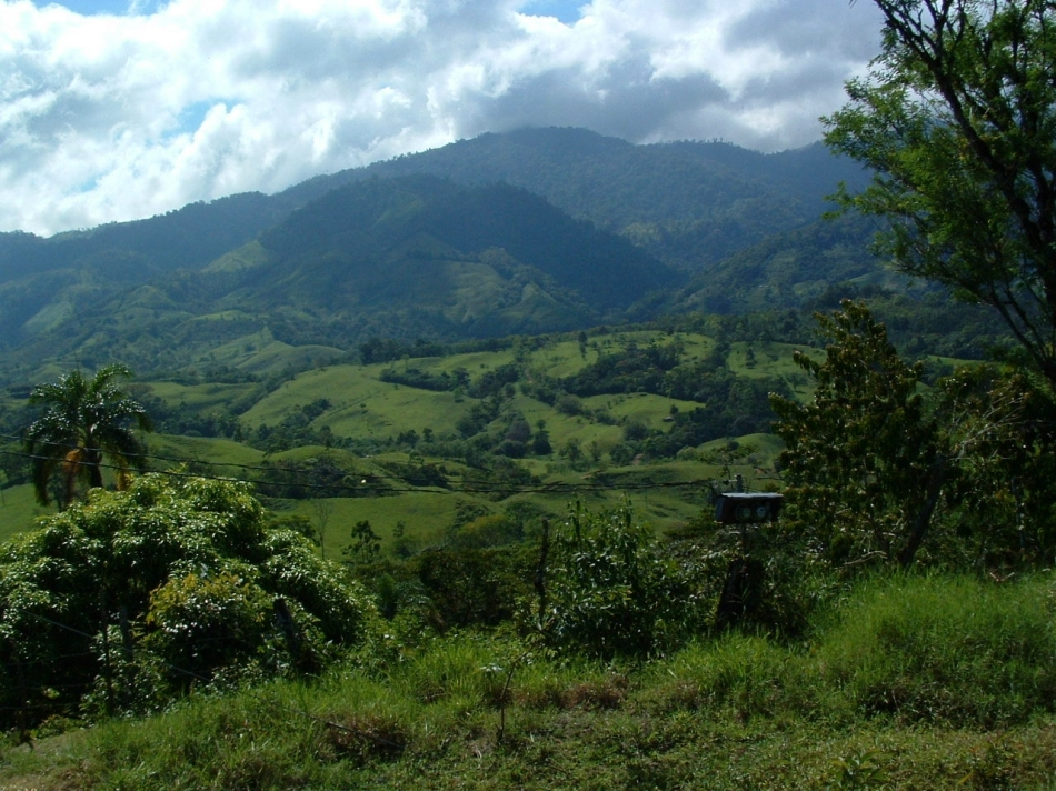 Costa Rica rural mountain farms