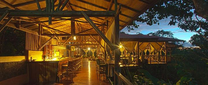 Dining area, el Remanso lodge, Osa peninsula, Costa Rica